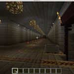 InstaCastle Basement with Rail Line and Mining Tunnels